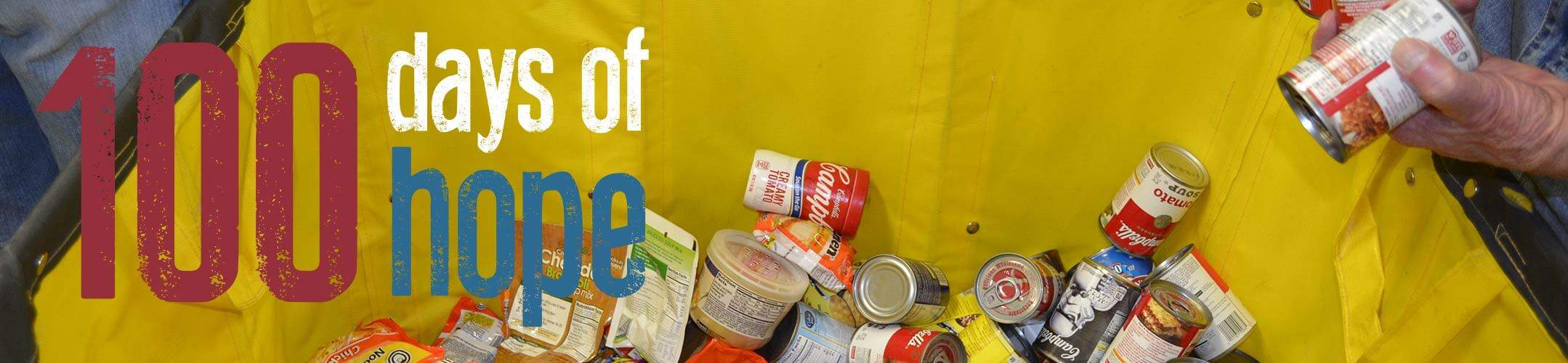 100 Days of Hope on Food Pantry