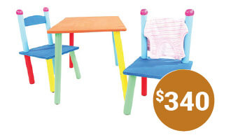 Colorful Table & Chairs Set $340