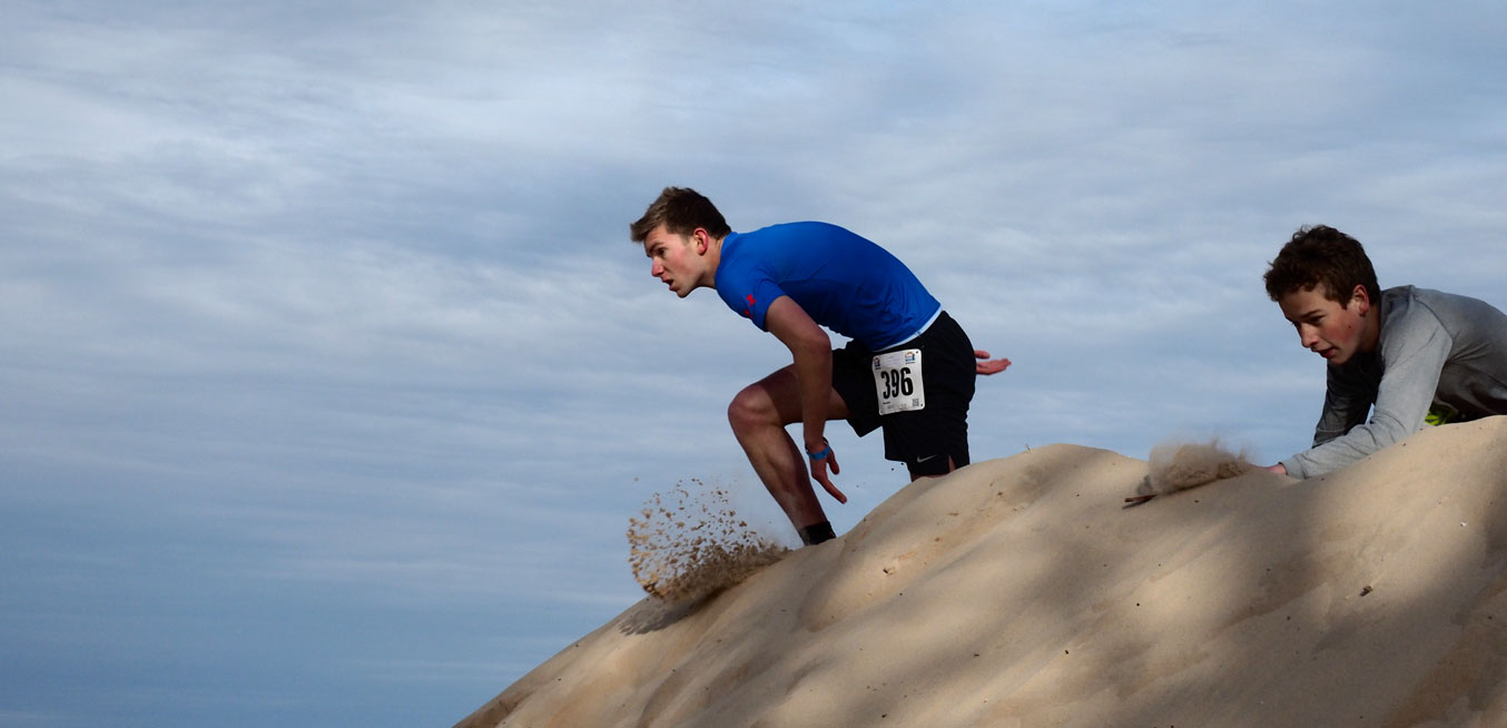 Boys Running on Dune