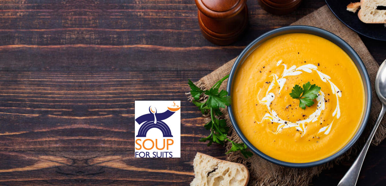 Soup for Suits logo and bowl of soup