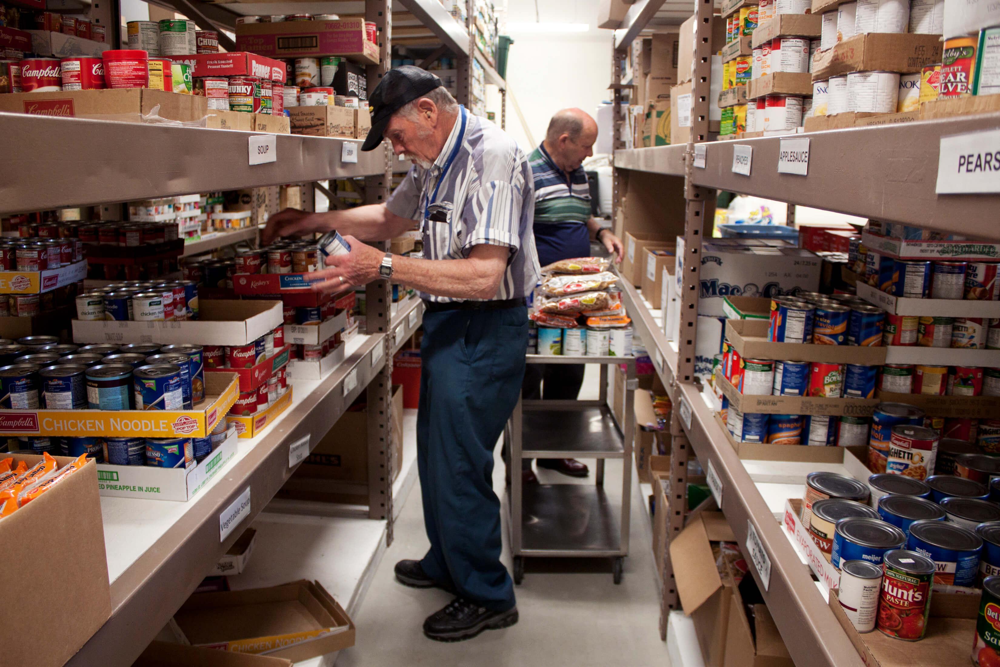 Men working on large pantry