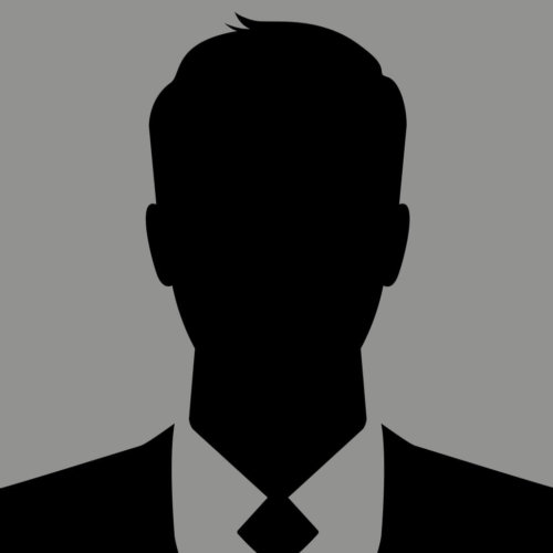 Black And White Silhouette Image Of A Man