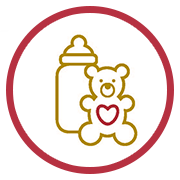 children baby bottle icon