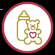 children baby bottle icon